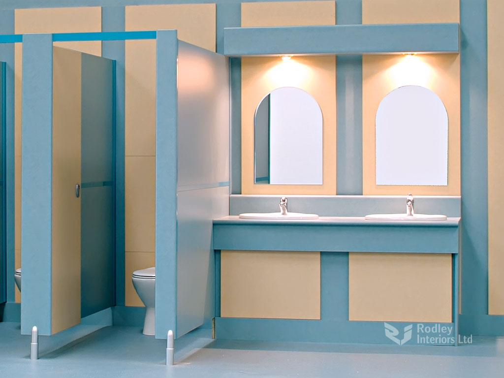 New Office Washroom Refurbished Bathroom Workplace Toilets