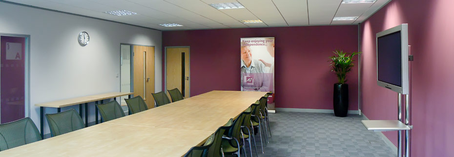 board room redecorated
